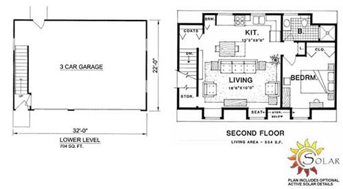 Garage And Garage Loft Plan No Gl 9301